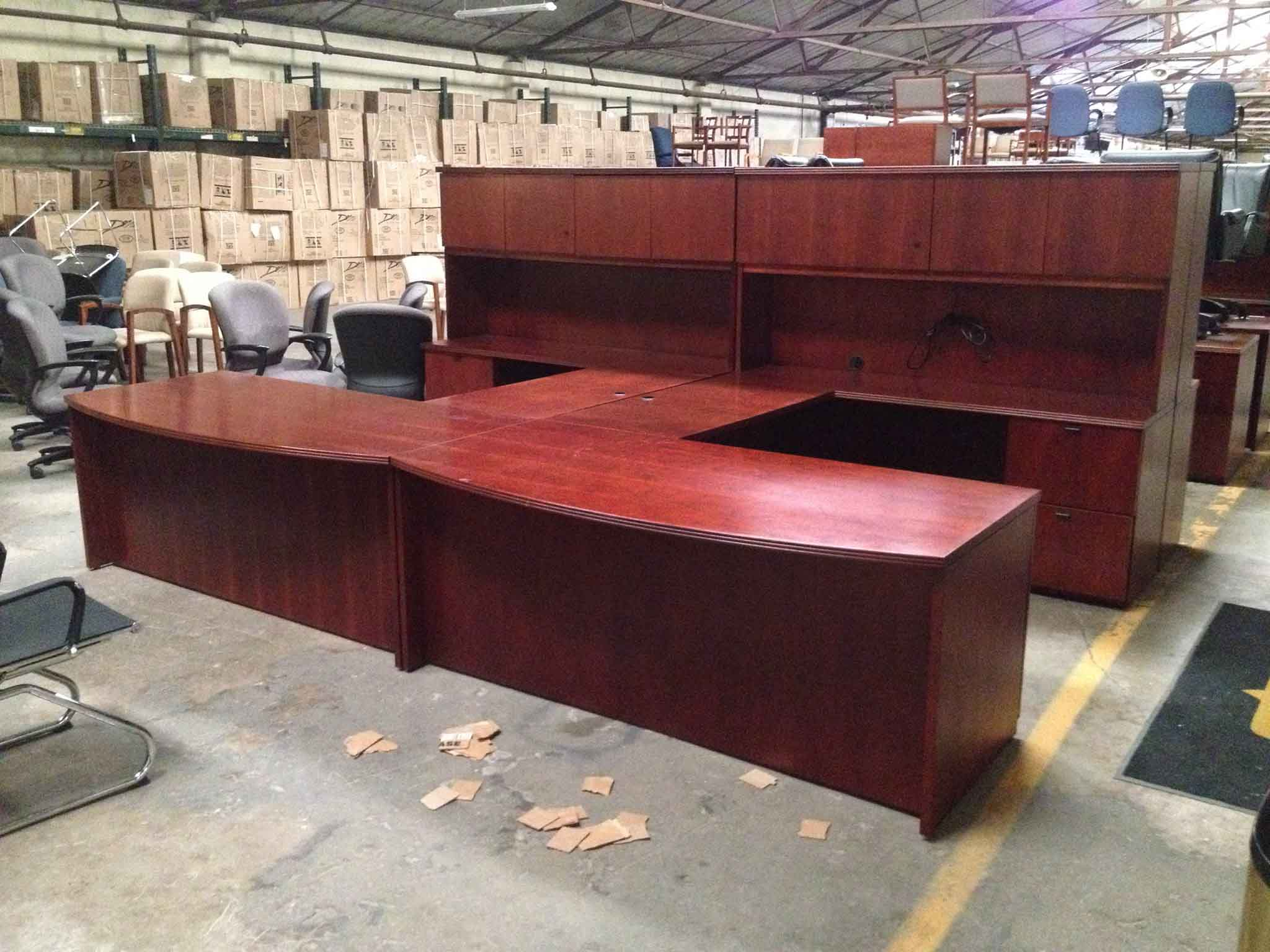 Savvi Commercial And Office Furniture Affordable High Quality Desk Cherry L Shaped Bowfront Deskcherryman In Houston Tx